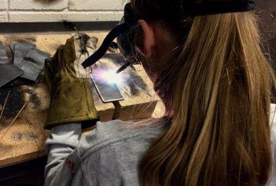 Svetsaryrket lockar fler gymnasiestudenter